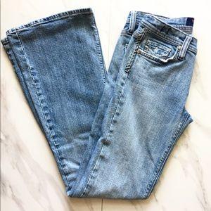VIGOSS Flare Leg Medium Washed Jeans
